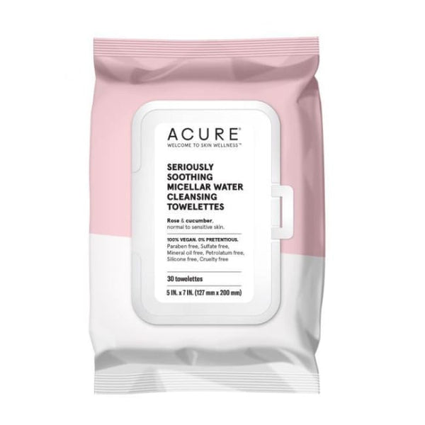 Acure Seriously Soothing Micellar Water Cleansing Towelettes - Face Wipes
