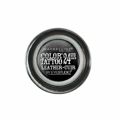 Maybelline Color Tattoo Leather 24HR Eye Shadow - Dramatic Black - Eyeshadow