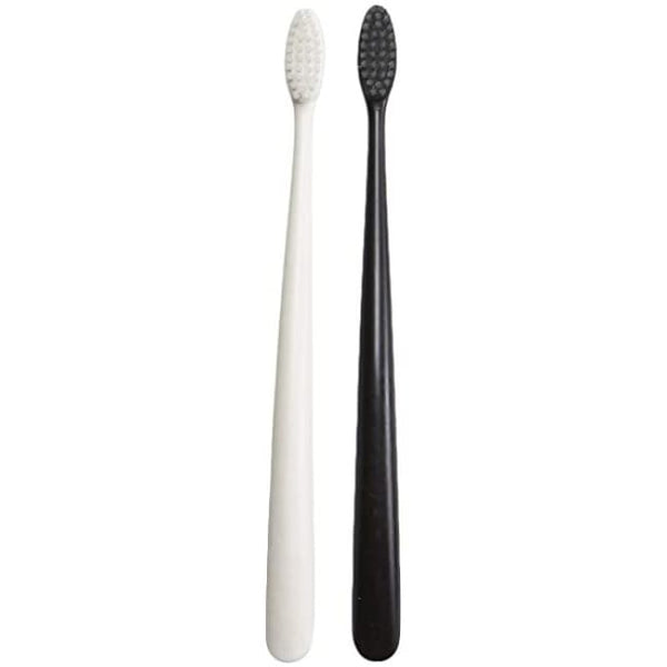 NFco Bio Toothbrush Pirate Black & Ivory Desert - Twin Pack - Toothbrush