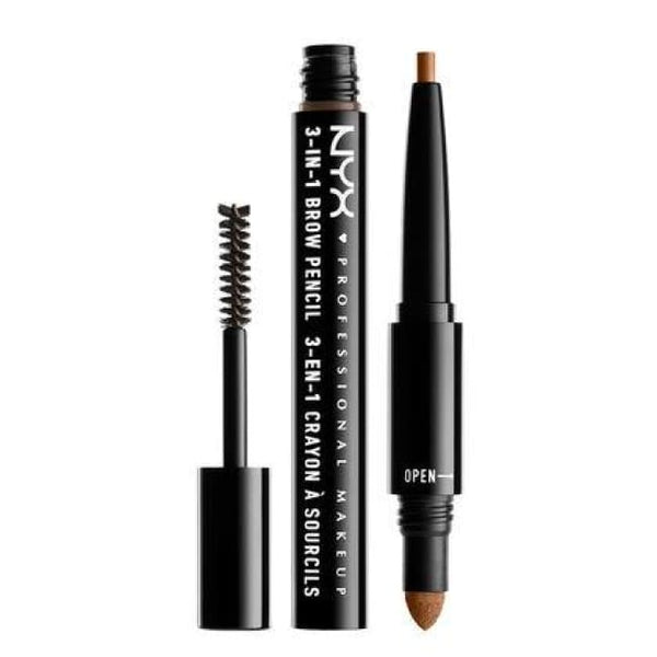Nyx 3-In-1 Brow Pencil - Caramel - Brow Pencil