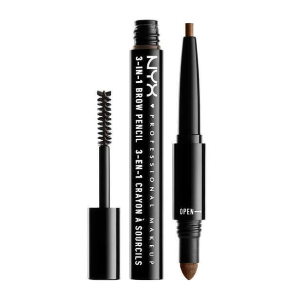 Nyx 3-In-1 Brow Pencil - Soft Brown - Brow Pencil