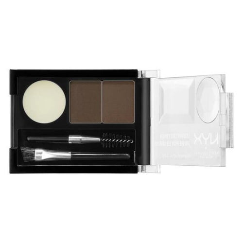 Nyx Eyebrow Cake Powder - Dark Brown/Brown - Brow Palette