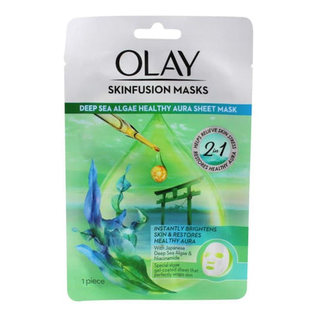 Olay Skinfusion Deep Sea Algae Healthy Aura Sheet Mask