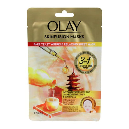 Olay Skinfusion Sake Yeast Wrinkle Relaxing Sheet Mask