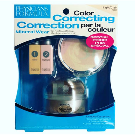 Physicians Formula Mineral Wear Talc-Free Mineral Color Correcting Kit - Light