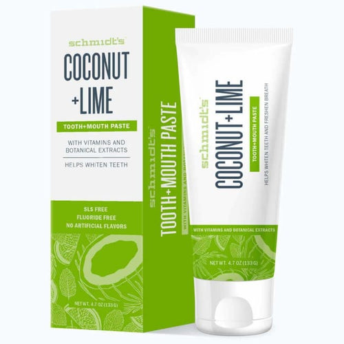 Schmidt's Tooth + Mouth Paste - Coconut + Lime - Toothpaste