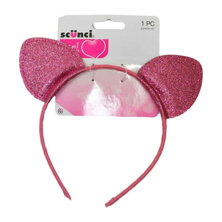 Scunci Cat Ears Glitter Headband - Pink