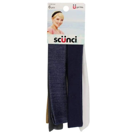 Scunci Denim & Solid Colour Head Wraps