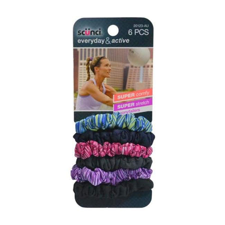 Scunci Everyday & Active Super Comfy Super Stretch Ponytailers