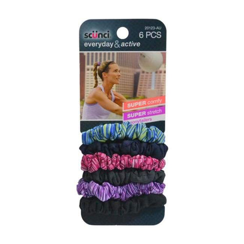 Scunci Everyday And Active Super Stretch Ponytailers - Hairband