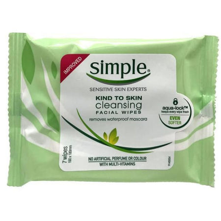 Simple Kind To Skin Cleansing Facial Wipes - 7 Pack