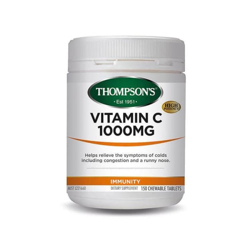 Thompson's Vitamin C 1000mg Chewable Tablets - Supplement