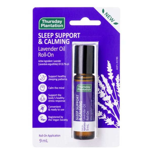 Thursday Plantation Sleep Support and Calming Lavender Oil Roll-On - Lavender Oil