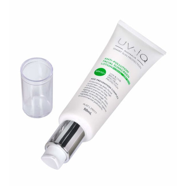 UV-iQ Australia Anti-Pollution Facial Sunscreen Lotion - Normal to Dry Skin SPF50+ - Sunscreen