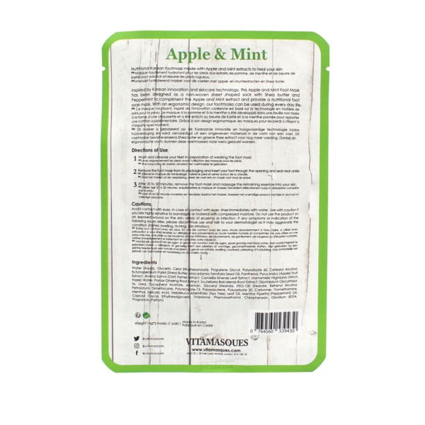 VITAMASQUES Apple & Mint Foot Mask - Mask