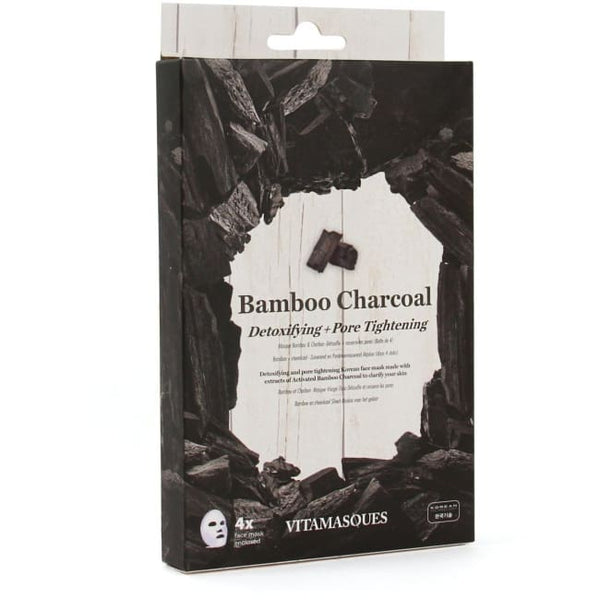 VITAMASQUES Bamboo Charcoal Sheet Masks Multipack - Mask