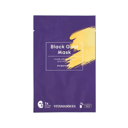 VITAMASQUES Black Gold Sheet Mask