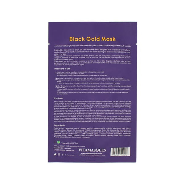 VITAMASQUES Black Gold Sheet Mask - Mask