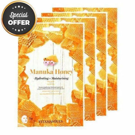 VITAMASQUES Manuka Honey Sheet Masks Multipack