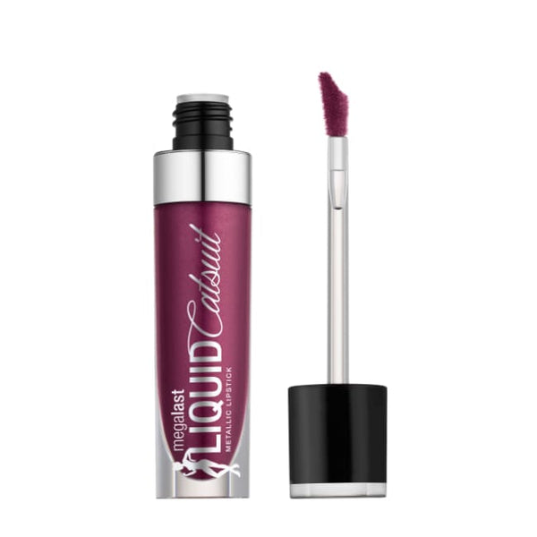Wet n Wild MegaLast Liquid Catsuit Metallic Lipstick - Acai So Serious - Lipstick