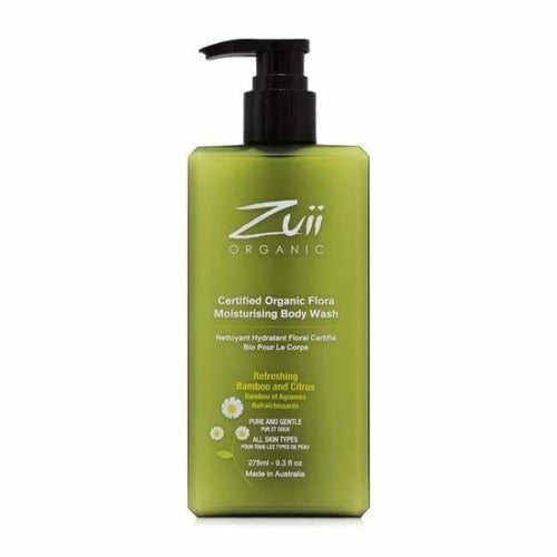 Zuii Organic Flora Body Wash - Infused With Ionic Silver - Body Wash
