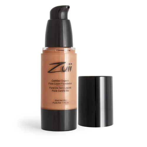 Zuii Organic Flora Liquid Foundation - Honey Beige - Foundation