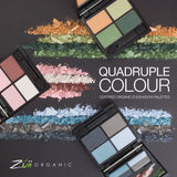 Zuii Organic Quad Eyeshadow Palette - Wave - Eyeshadow