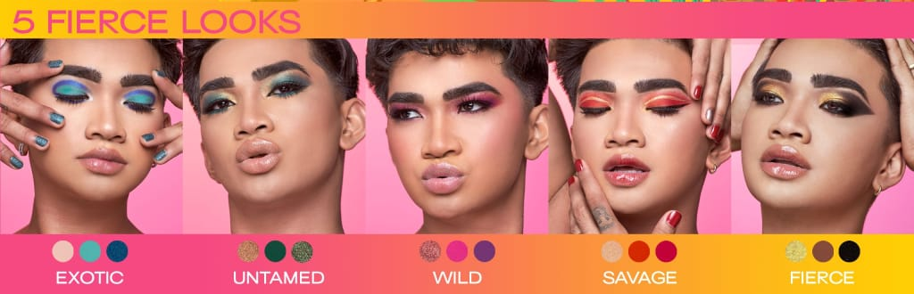 Bella Scoop Wet n Wild Bretman Rock Jungle Rock Makeup Looks