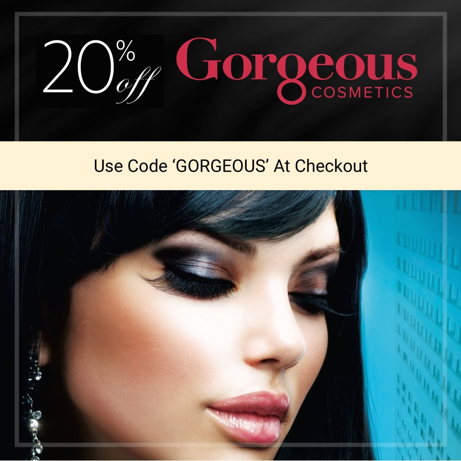 gorgeous cosmetics 20% off sale