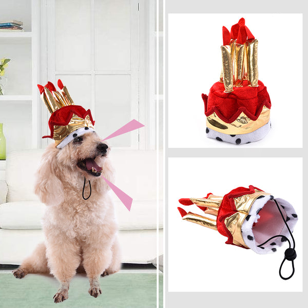 Pet Dog Birthday Hat Supplies Cake Model For Cats Dogs Grooming Accessories