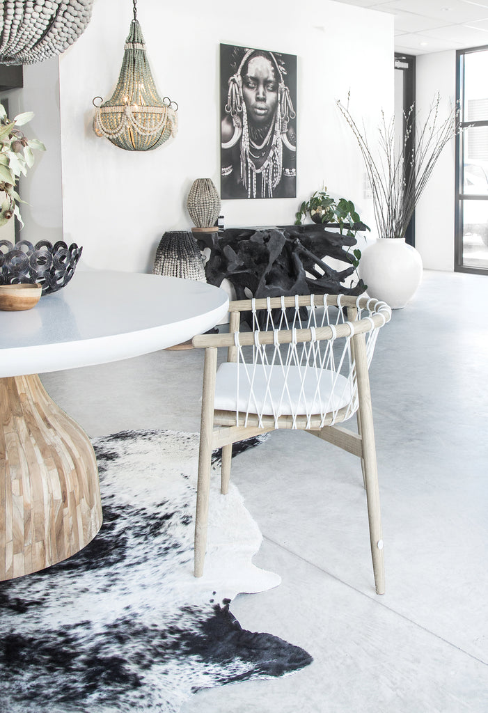 100% Organic Pure Wool Cow Rug | Black + White - Uniqwa Collections wholesale furniture suppliers for interior designers australia