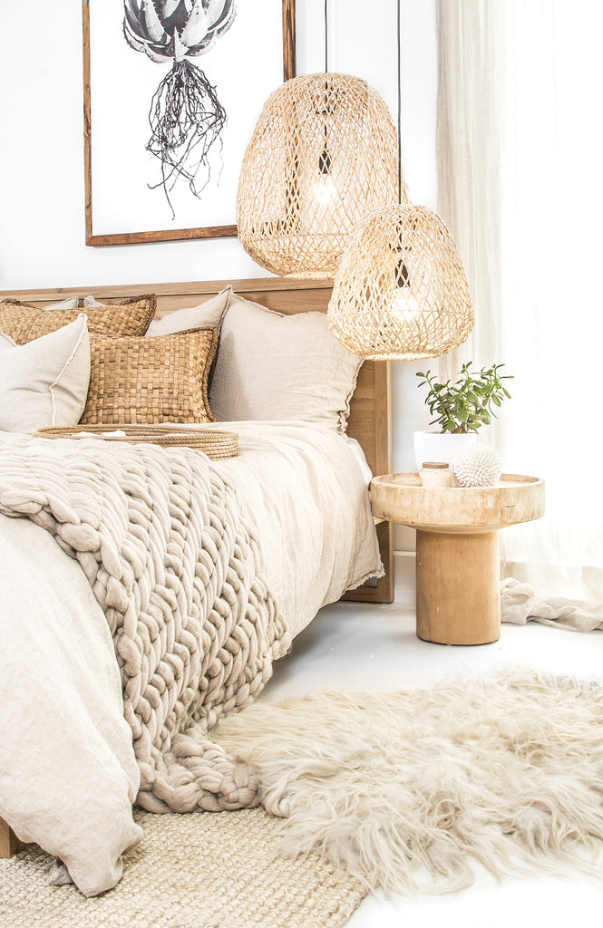 Abby Pendant Light | Natural - Uniqwa Collections wholesale furniture suppliers for interior designers australia