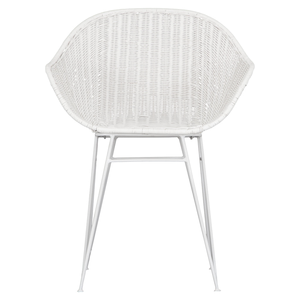 Angola Dining Chair | White - Uniqwa Collections wholesale furniture suppliers for interior designers australia