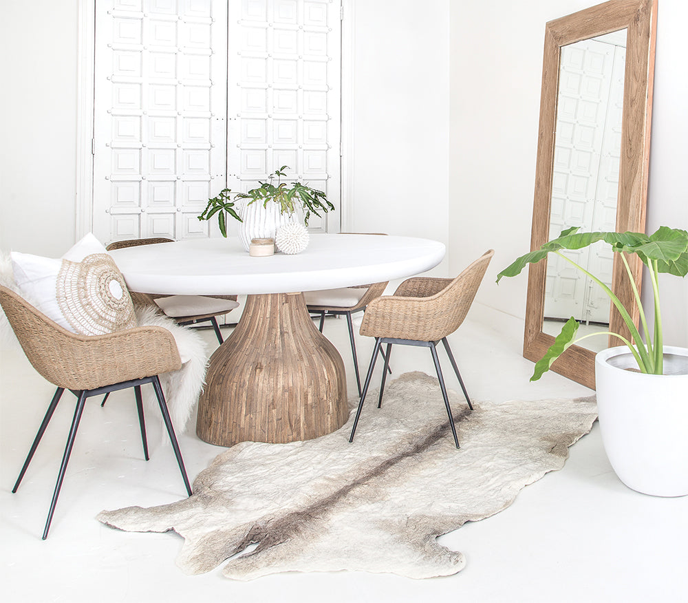 100% Organic Pure Wool Cowrug | Natural - Uniqwa Collections wholesale furniture suppliers for interior designers australia