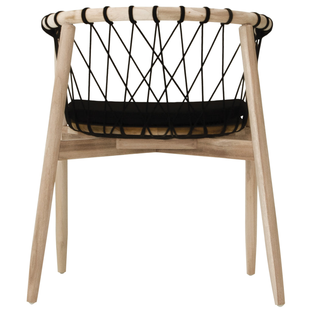 Arniston Dining Chair | Black Natural - Uniqwa Collections wholesale furniture suppliers for interior designers australia