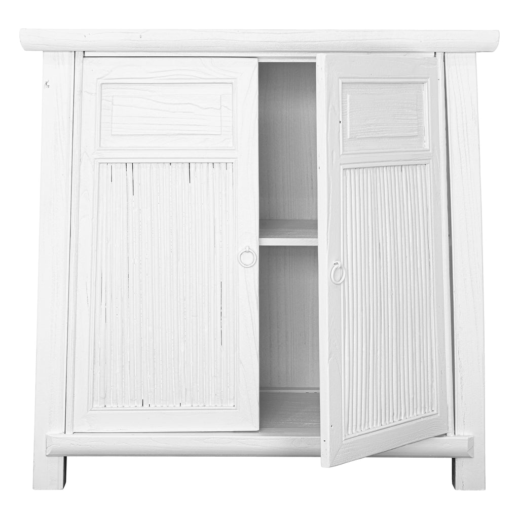 Bamboo Cabinet | White