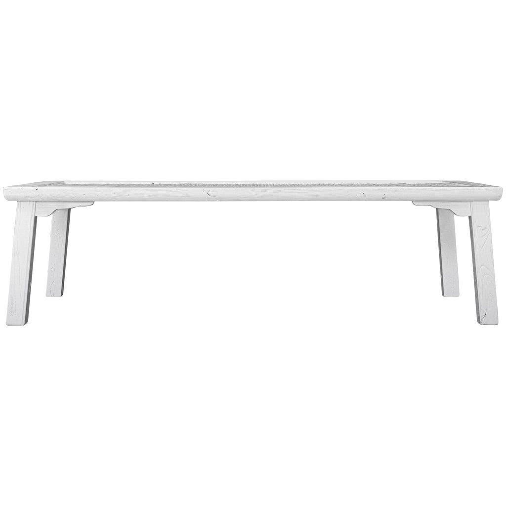 Bamboo Coffee Table | White