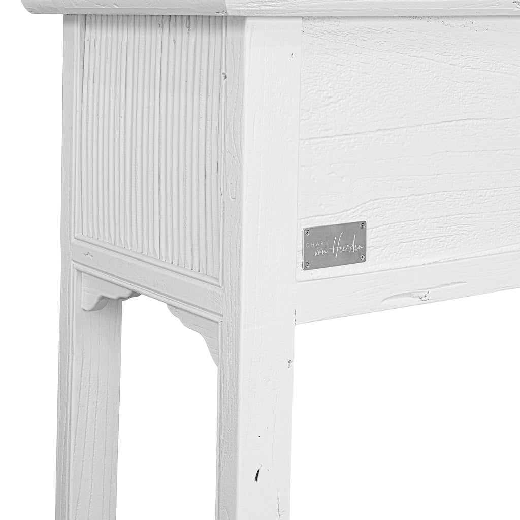 Bamboo Console Table | White