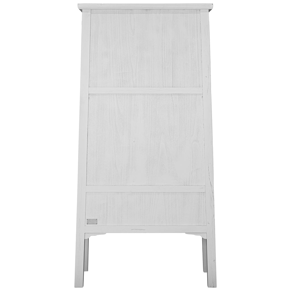 Bamboo Tall Cabinet | White