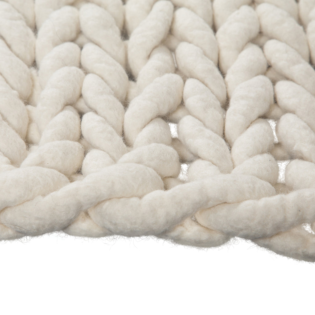 100% Organic Pure Wool Bathmat | Cream - Uniqwa Collections wholesale furniture suppliers for interior designers australia