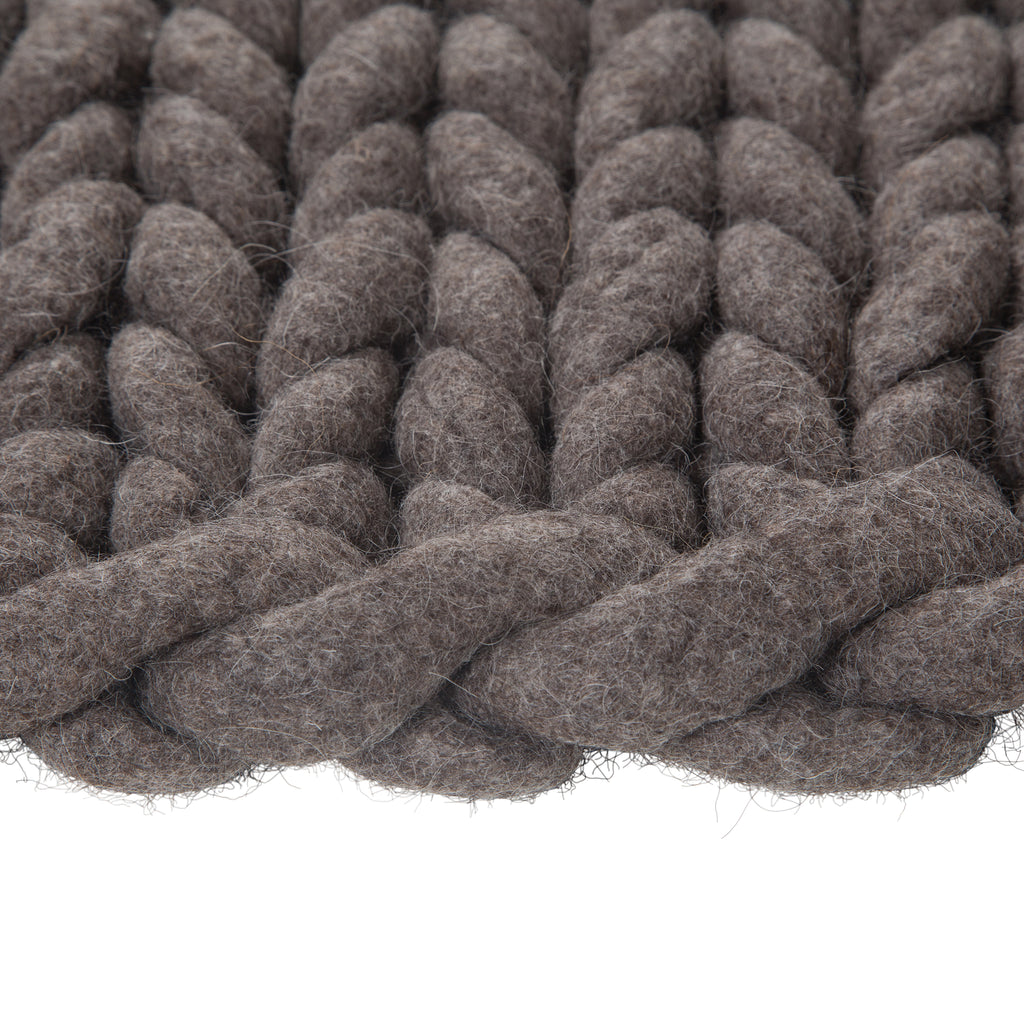 100% Organic Pure Wool Bathmat | Dark Grey