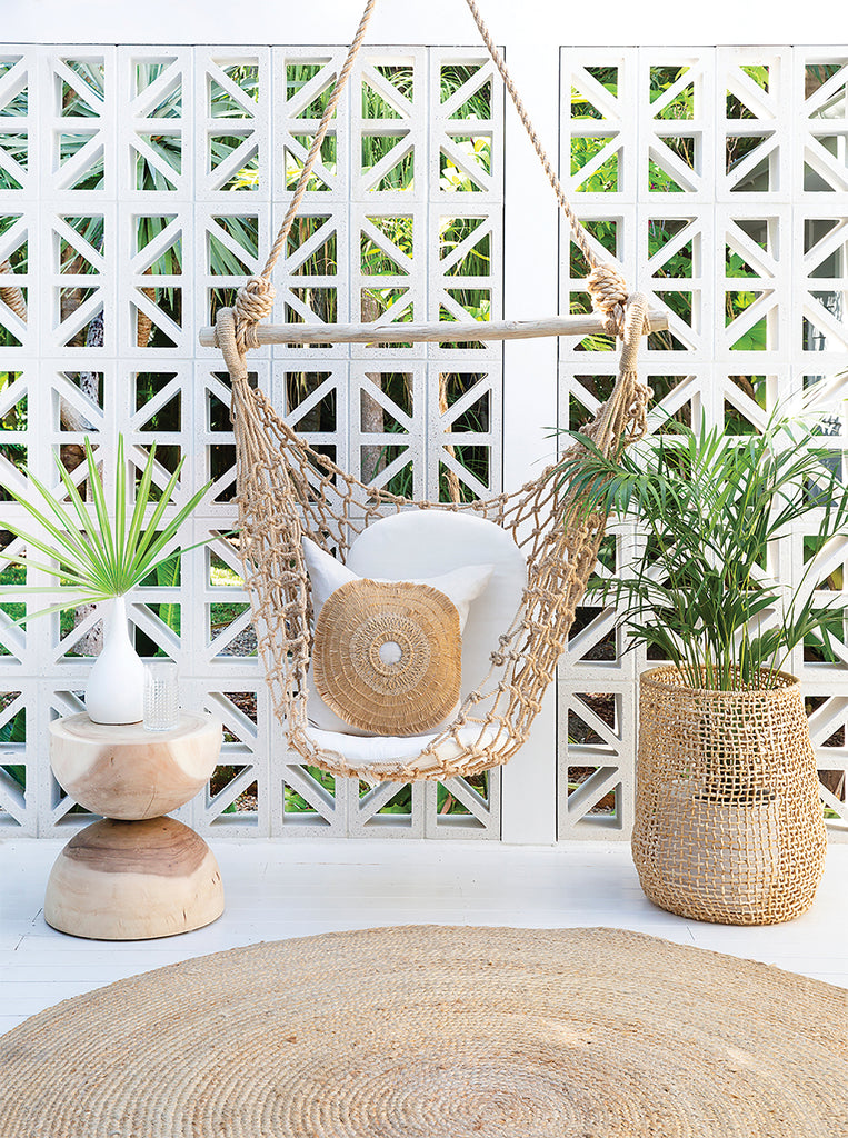 Bindu Basket | Natural - Uniqwa Collections wholesale furniture suppliers for interior designers australia