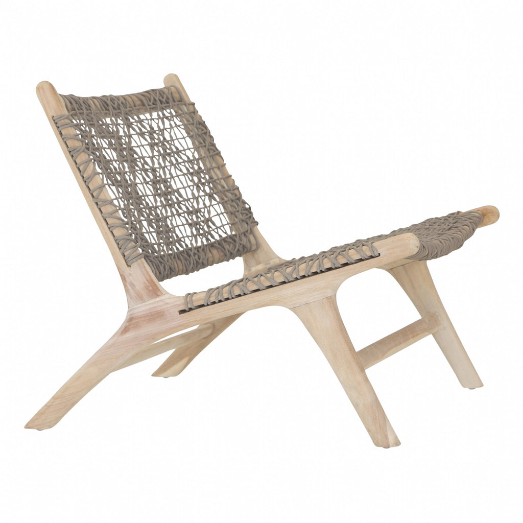 Cape town occasional chair taupe outdoor rope next