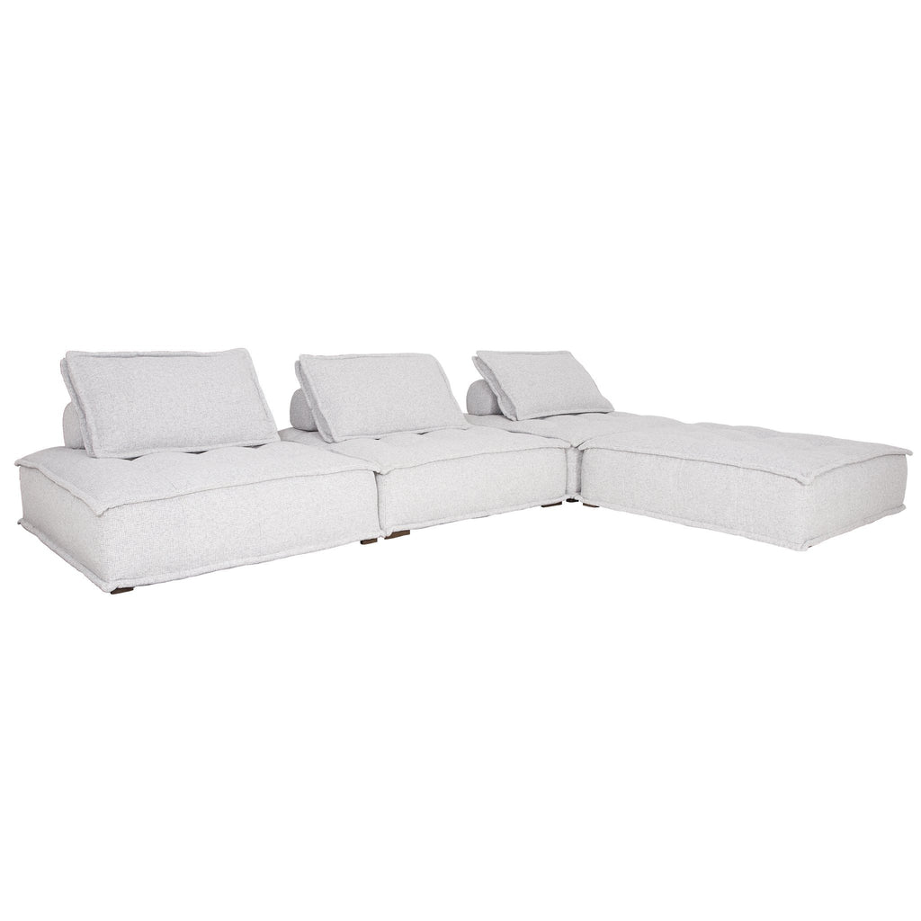 Collins Sofa | One Seater | Light Grey - Uniqwa Collections wholesale furniture suppliers for interior designers australia