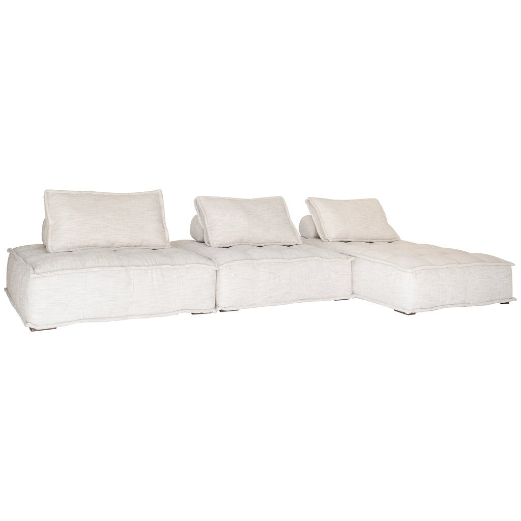 Collins Sofa | Chaise | Natural