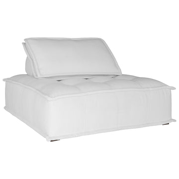 Collins Sofa | One Seater | White Corduroy