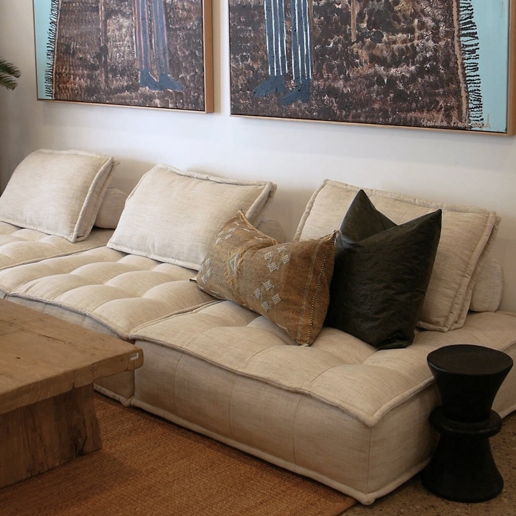 Collins Sofa | One Seater | Natural - Uniqwa Collections wholesale furniture suppliers for interior designers australia