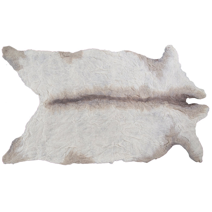 100% Organic Pure Wool Cowrug | Natural