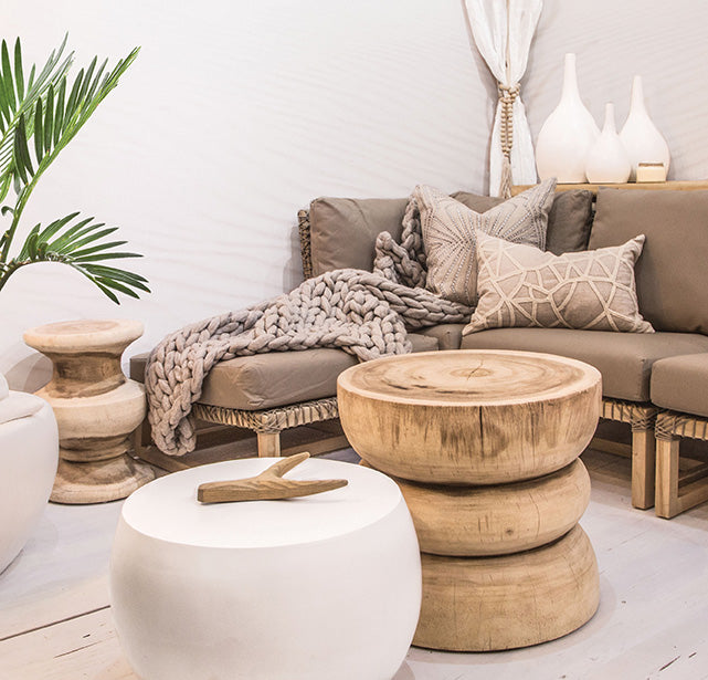 Ghana Side Table | Natural - Uniqwa Collections wholesale furniture suppliers for interior designers australia