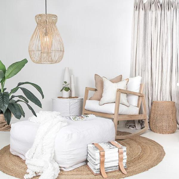 Indah Pendant Light  | Natural - Uniqwa Collections wholesale furniture suppliers for interior designers australia